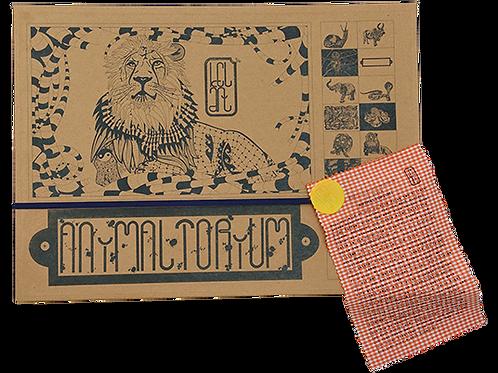 """Animaltorium, Ausmalbuch, """"Luzia"""", Verpackung Blau/Gelb/Orange"""