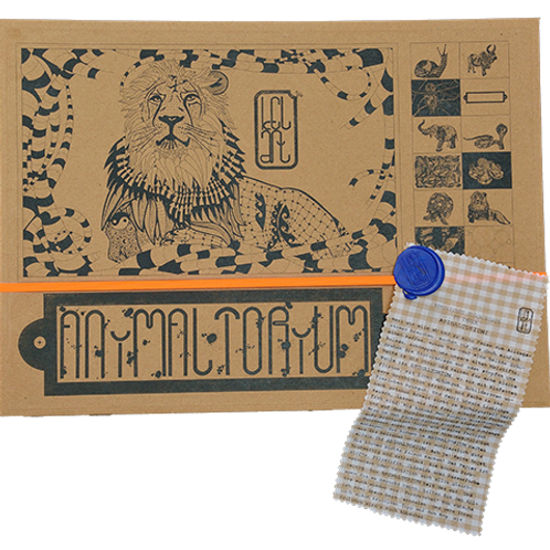 "Animaltorium, Ausmalbuch, ""E.J."", Verpackung Neonorange/Blau/Hellbraun"