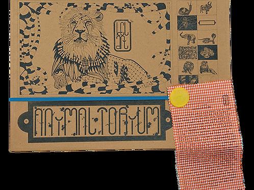 """Animaltorium, Ausmalbuch, """"Paul"""", Verpackung Blau/Gelb/Orange"""