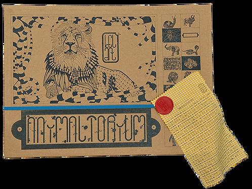 """Animaltorium, Ausmalbuch, """"Shazia, Verpackung Blau/Rot/Gelb"""