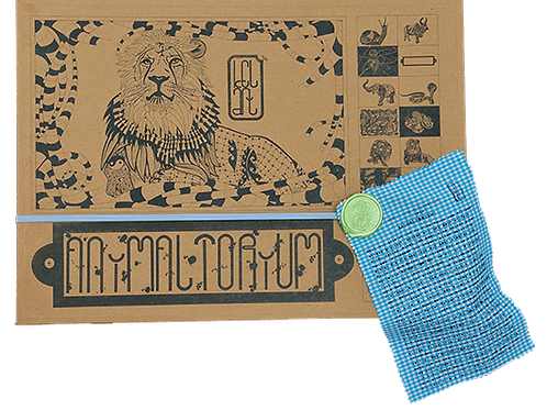 "Animaltorium, Ausmalbuch, ""Nora"", Verpackung Hellblau/Grün/Blau"