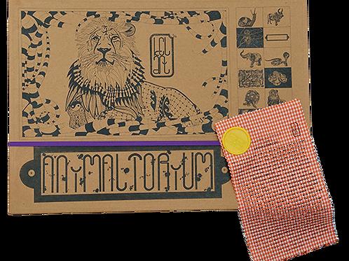 """Animaltorium, Ausmalbuch, """"Marta"""", Verpackung Lila/Gelb/Orange"""