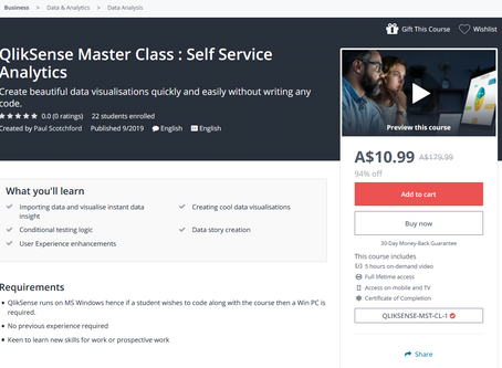 New QlikSense Master Class - Published!