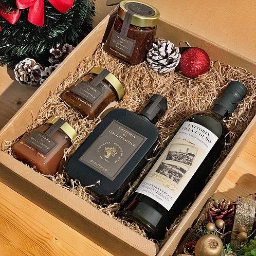 PANZANO Christmas Gift Box - Olio BIO, Olio Convenzionale ,3 Composte Biologiche