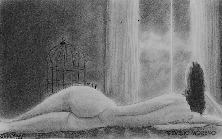 Mujer desnuda recostada   Nude reclining woman