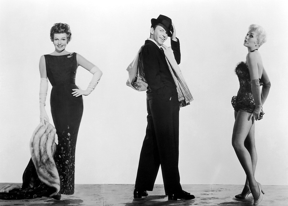 Frank Sinatra, Rita Hayworth and Kim Novak in Pal Joey promo.