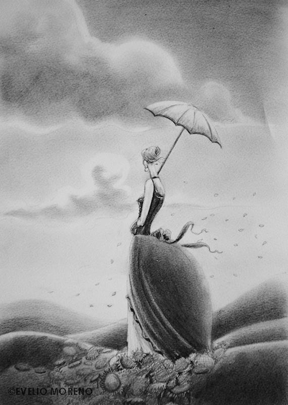 Mujer con sombrilla   Woman with umbrella