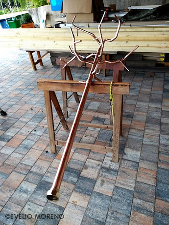 Assembled and welded apple tree