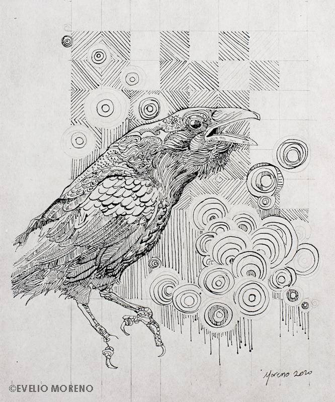 Crow in Kozo