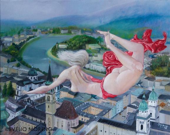 The sky over Salzburg