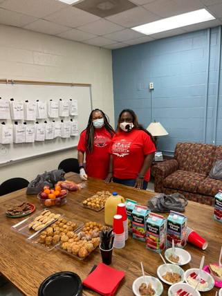 Monroe middle school staff breakfast 5/7/2021