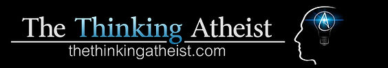 The Thinking Atheist logo banner