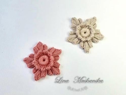 Flower with 5 petals. Irish Crochet motif. | Irish Crochet Lessons ...
