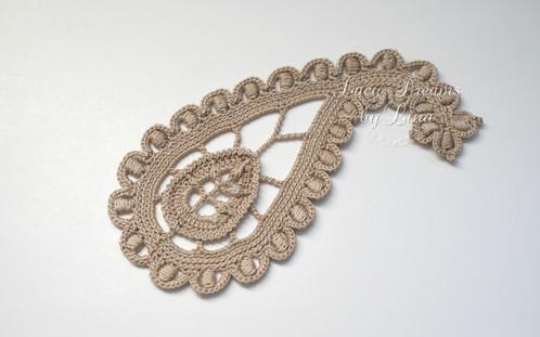 Paisley Irish Crochet Pattern