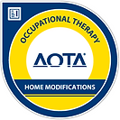 AOTA home modifications certification logo