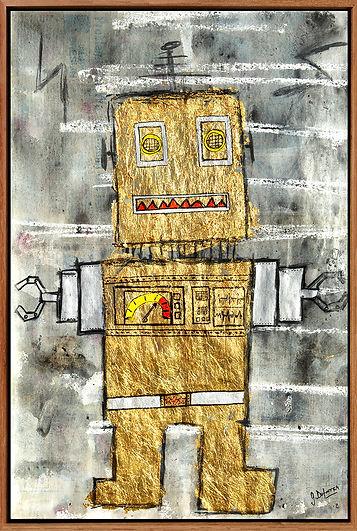 Roboto; mixmedia; popart; naiveart
