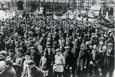 1928 Russia Communist Demonstrators May