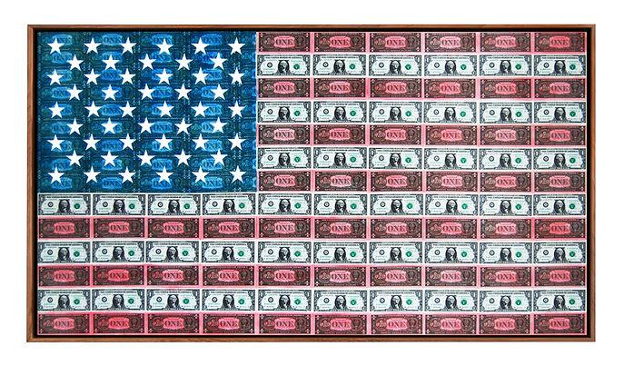 DOLLAR ART AMERICAN FLAG GABRIEL DUFOURCQ