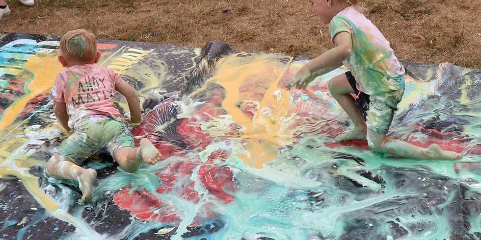 Paint Slip n Slide - school holidays