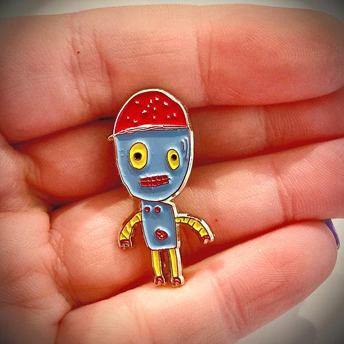 Rascal Robot enamel lapel pin