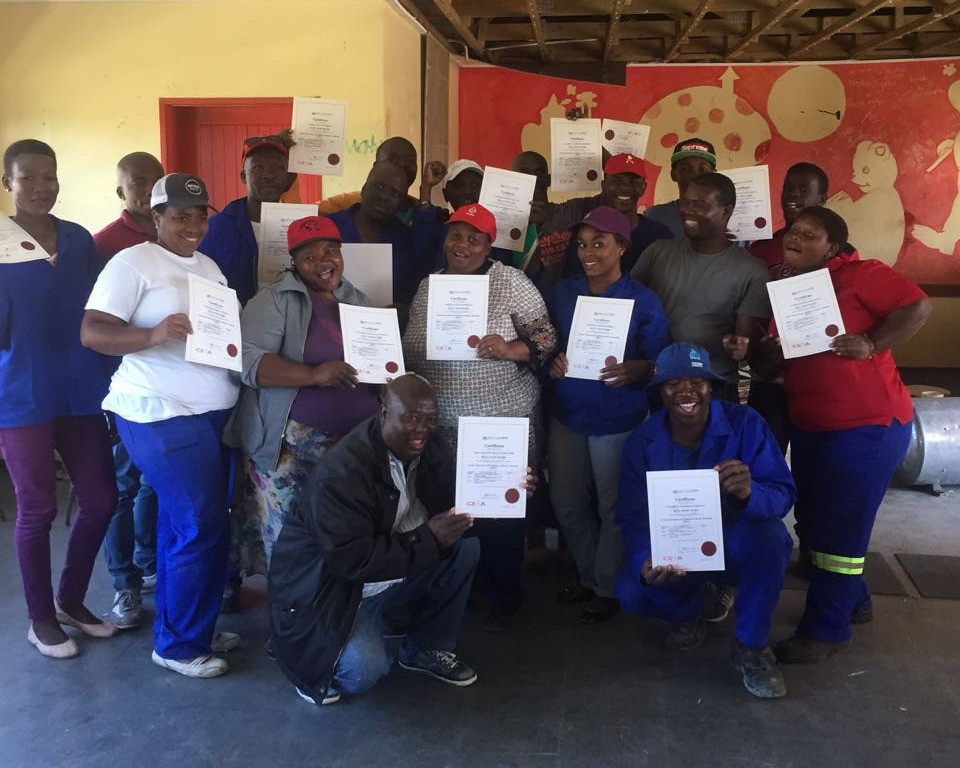 Onsite training programme for local plumbers - Durban, KwaZulu Natal.