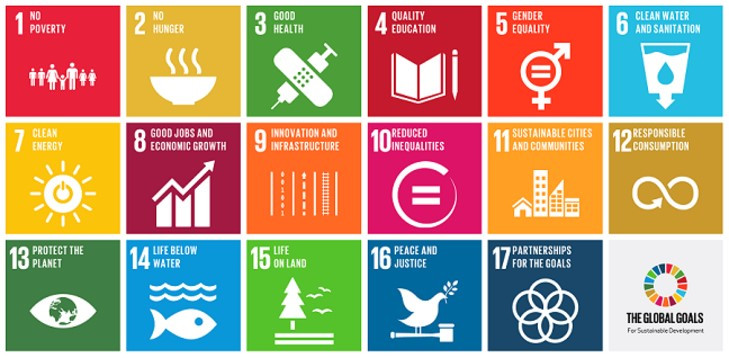 17 Sustainable Development Goals by the United Nations.
