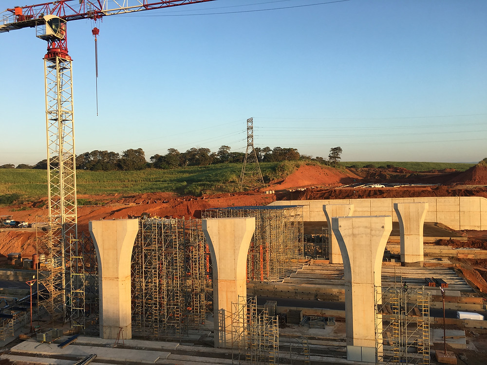 Cornubia interchange under construction, Umhlanga.