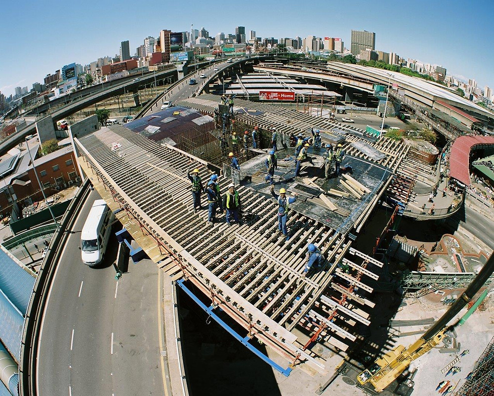 Warwick Triangle Viaduct, bridge, interchange, construction, infrastructure, civil engineering, Durban, KwaZulu Natal