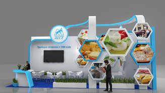 Exhibition stand for Alche Rus company