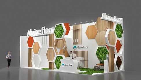 Дизайн выставочного стенда компании Alpi