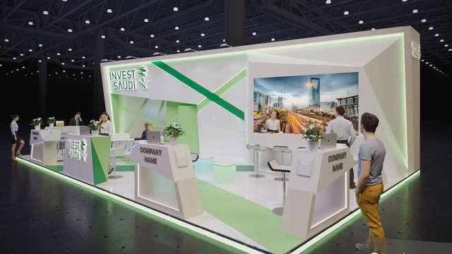 Дизайн выставочного стенда Invest Saudi
