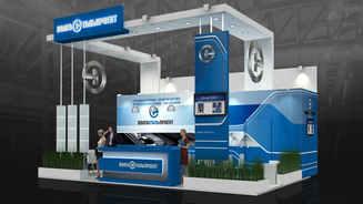 Design of the exhibition stand Volgastalproekt