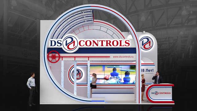 Дизайн эксклюзивного выставочного стенда DS Controls
