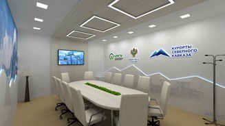 Design of the exhibition stand for the Ministry of Development of the North Caucasus