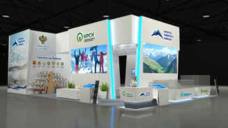 Exhibition stand design for the Ministry of Development of the North Caucasus