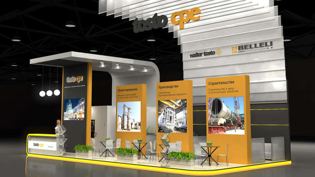 Дизайн выставочного стенда TOSTO CPE