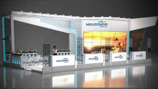 Design of the exhibition stand Mouzenidis-travel