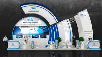 Design of the exhibition stand FSUE Space Communications