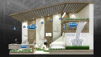 Exclusive exhibition stand Ekomilk