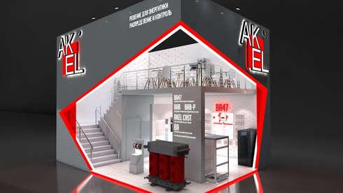 Дизайн стенда на выставку Электрические сети России