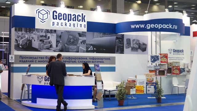Выставочный стенд компании Geopack