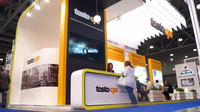Эксклюзивный выставочный стенд для компании TOSTO CPE.