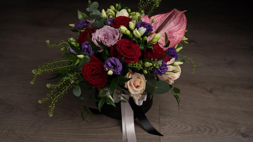 Elegant Mixed Blooms Hat Box (From £37.50)