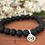 Thumbnail: Lava stone beads bracelet with BeYou energetic symbol