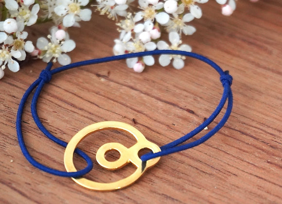 BeYou Energetic Bracelet S - Gold plated Blue