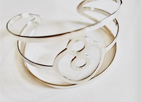 Large BeYou energetic bracelet - Silver