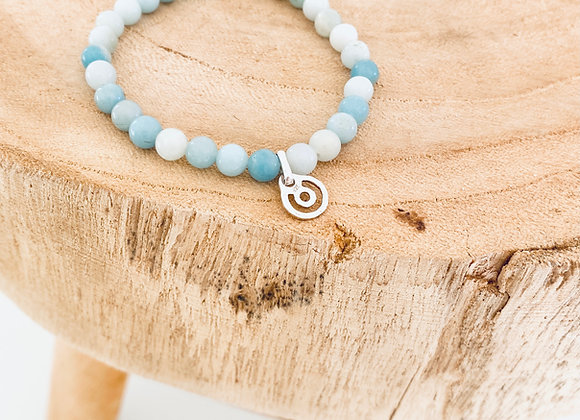 Energetic BeYou XS Silver with Sacred turquoise Stone Bracelet