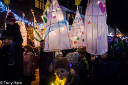 Lanterns in the procession