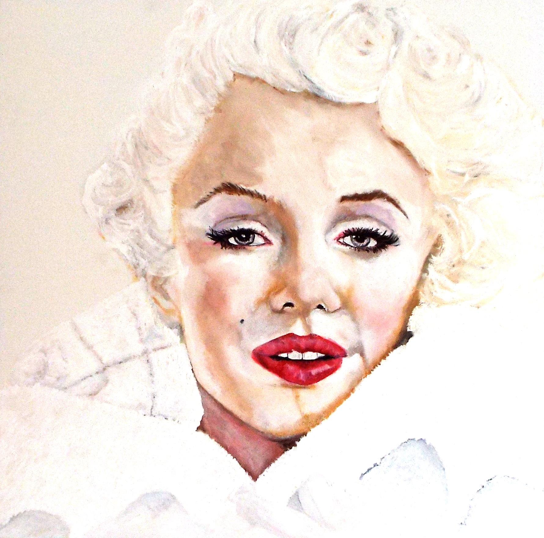 Hvid Marilyn Monroe