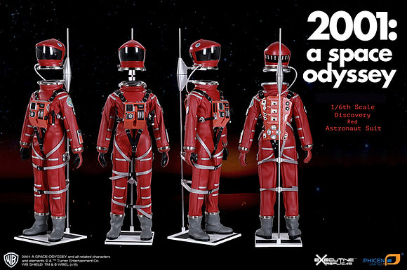 2001: A SPACE ODYSSEY: 1/6TH SCALE RED DISCOVERY ASTRONAUT SUIT (NO FIGURE)